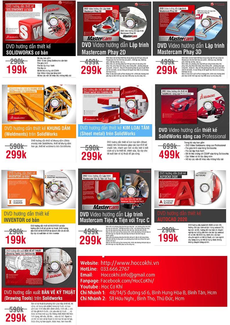 DVD hướng dẫn học Solidworks online