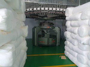xưởng dệt vải mè caro