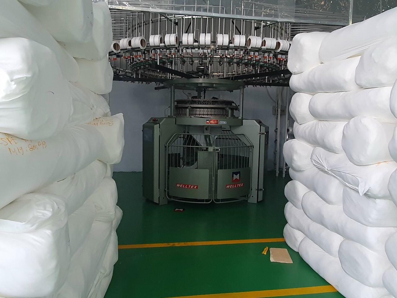 xưởng dệt vải