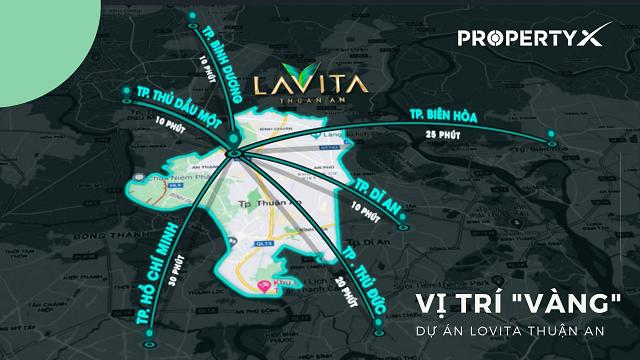 Vị trí căn hộ Lavita Thuận An