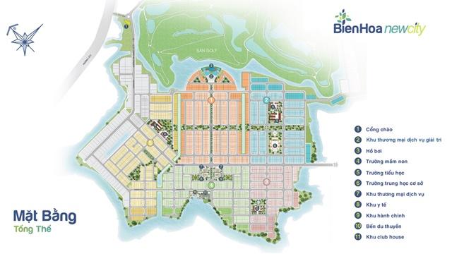 chuyển nhượng Biên Hòa New City - Mặt bằng tổng thể
