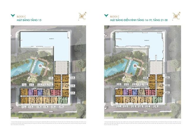 mặt bằng tầng điển hình 15-16 -38 - Căn Hộ Lavita Thuận An