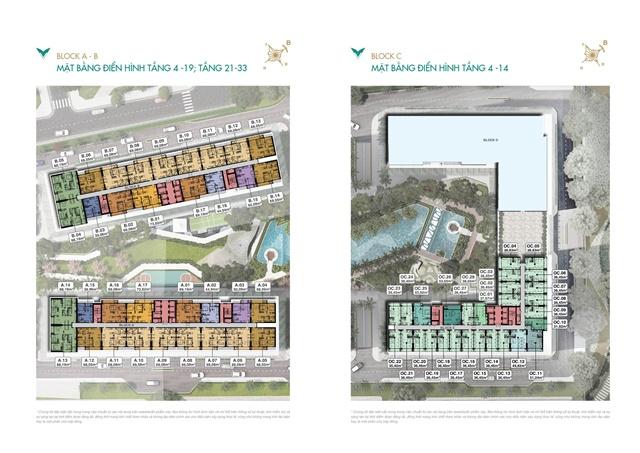 mặt bằng tầng điển hình 4-14 - Căn Hộ Lavita Thuận An