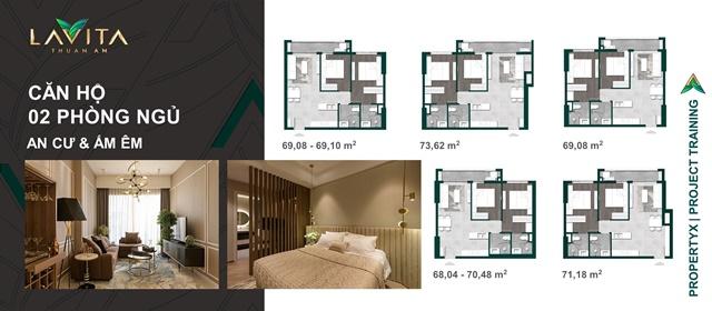 thiết kế 2Pn - Căn Hộ Lavita Thuận An