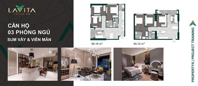 thiết kế 3pn - Căn Hộ Lavita Thuận An