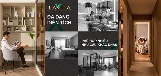 thiết kế căn hộ đa dạng - căn hộ Lavita Thuận An