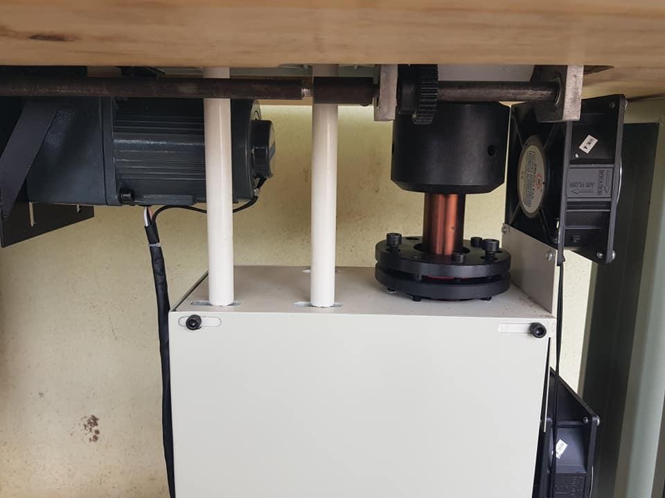 Máy Ép Bông Rèm Cơ 1 Motor - Bộ phận dưới thân máy