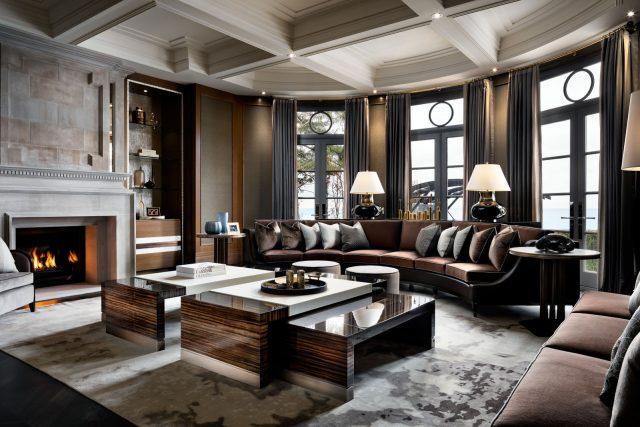 thiết kế nội thất biệt thự Swanbay - phòng khách