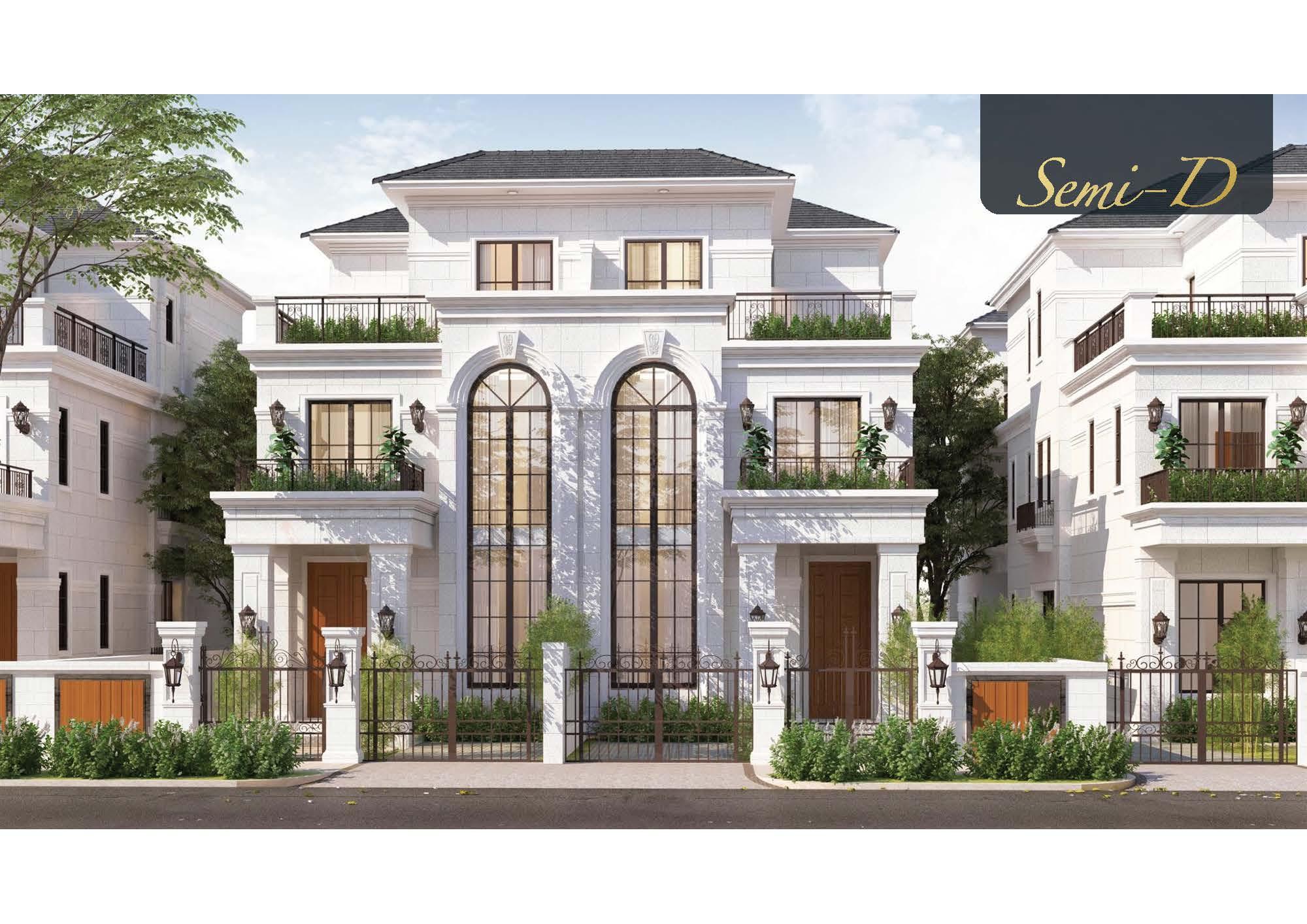 thiết kế nội thất biệt thự Swanbay - phối cảnh kiến trúc