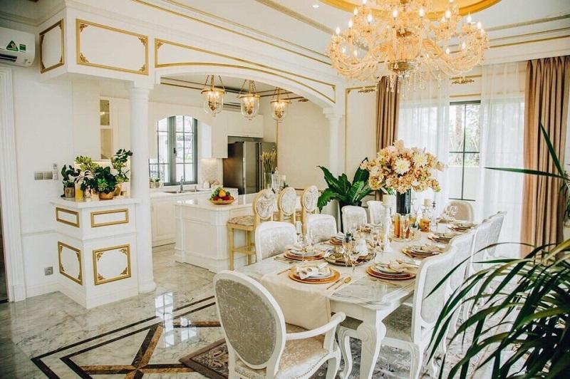 thiết kế nội thất biệt thự Swanbay - phòng bếp