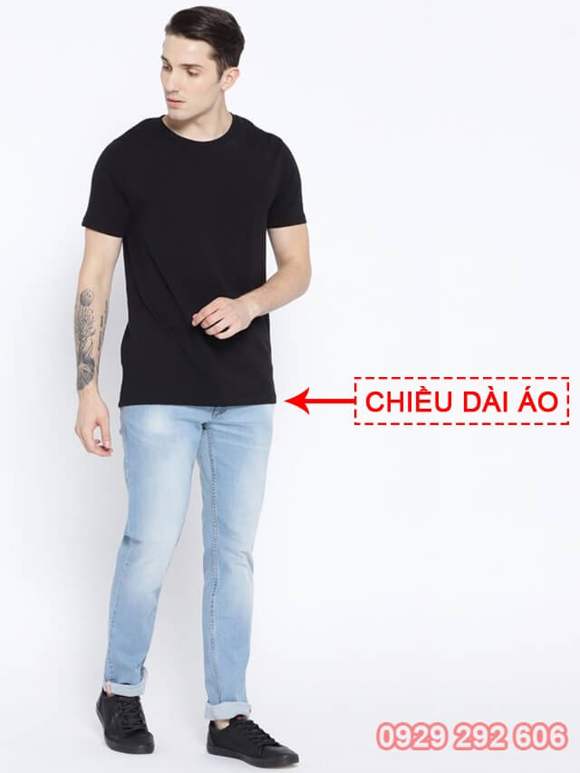 Chọn áo phông - Phần chiều dài áo