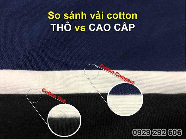 So sánh vải 100% cotton thô và vải cotton 100% cao cấp