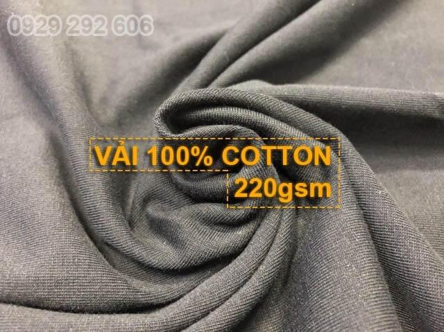 Vải 100% cotton 220gsm