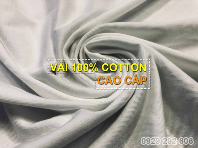 áo thun vải cotton 100% 220gsm