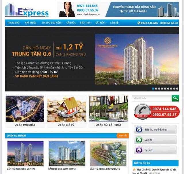Mẫu thiết kế website bđs 8