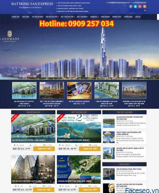 Mẫu thiết kế website bđs 9