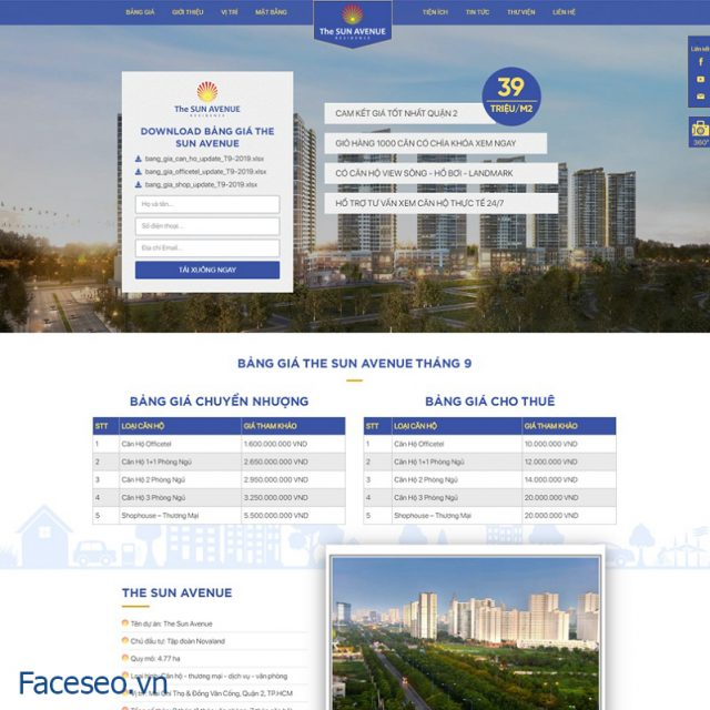 Mẫu thiết kế website bđs 5
