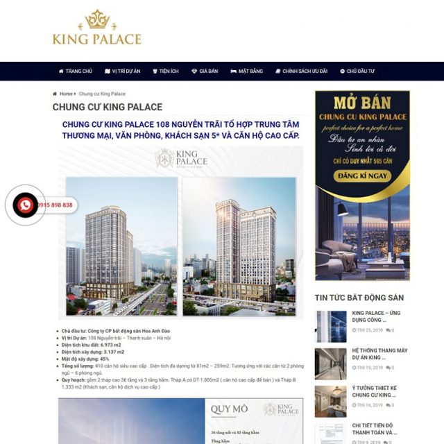 Mẫu thiết kế website bđs 7