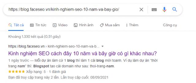 Kiểm tra xem google index link mình hay chưa