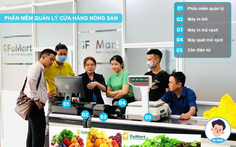 Triển khai phần mềm quản lý cửa hàng nông sản
