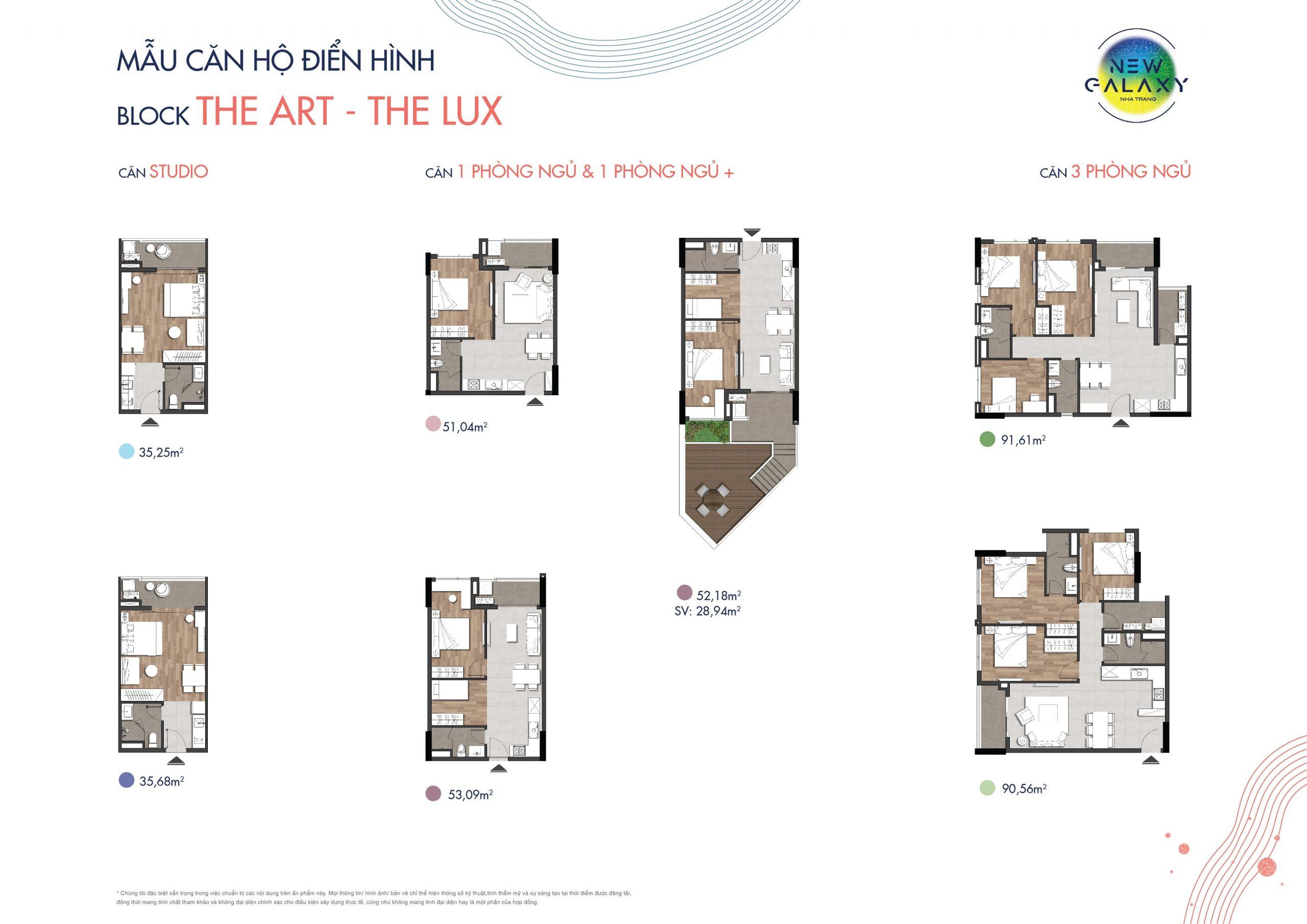 mặt bằng căn hộ mẫu dự án căn hộ New Galaxy Nha Trang