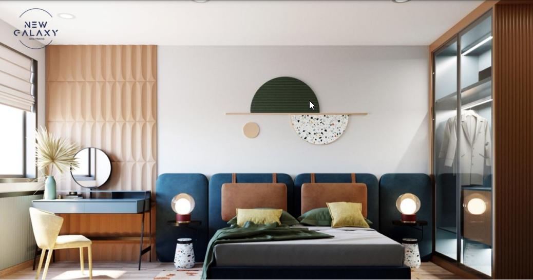 Căn hộ mẫu 1 phòng ngủ New Galaxy Nha Trang
